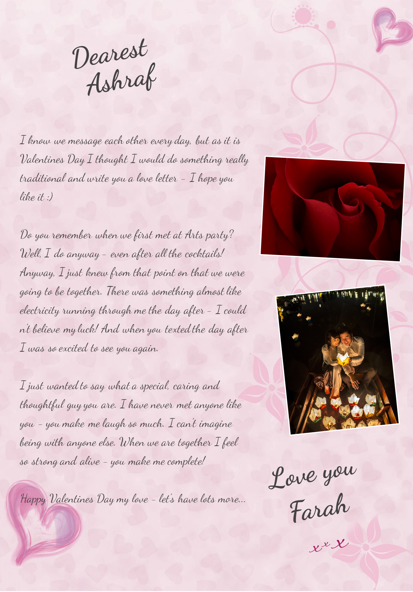 Valentines Love Letter